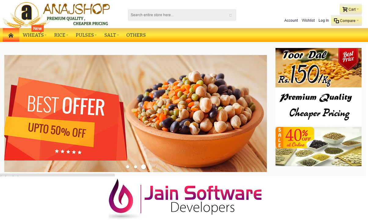 Anajshop | Grain Ecommerce Shop