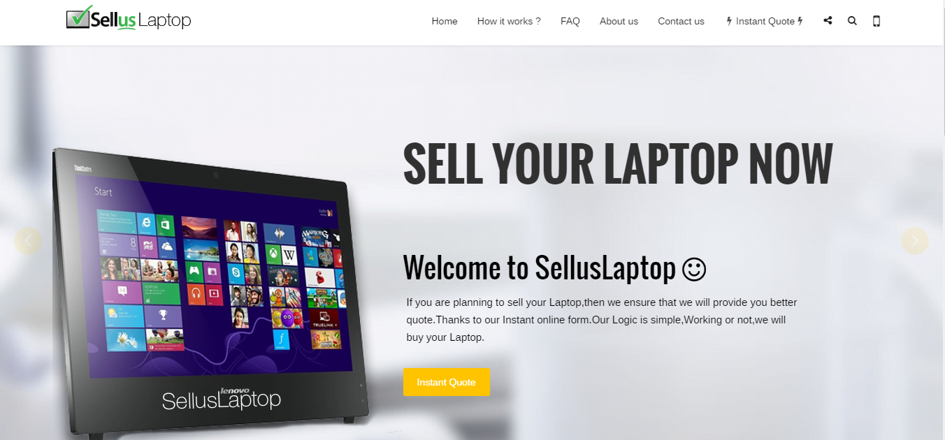 online laptop shop website