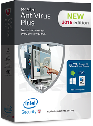 Mcafee Antivirus Plus 2016 1pc Software On